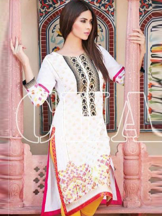 Charizma Summer Emdroidered Unstitched Kurtis Collection - wishcart.in