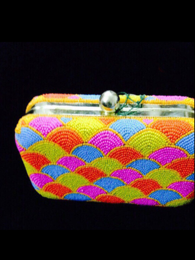 Multicolor fancy clutch@wishcart.in