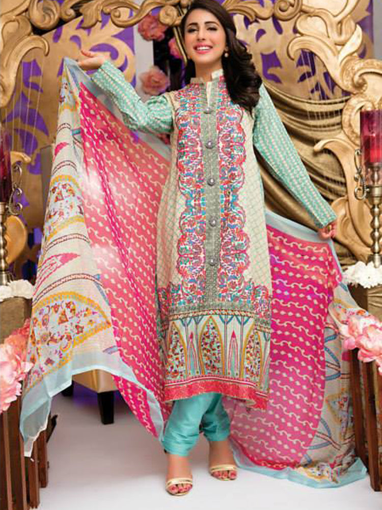 wishcart-Pakistanisuits-Falak Semi Stitched Pearl Suits with Clutch
