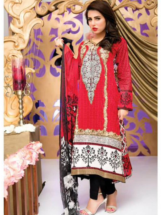 Falak Semi Stitched Original Pakistani Dresses & Pearl Suits With Clutch 10 wishcart.in