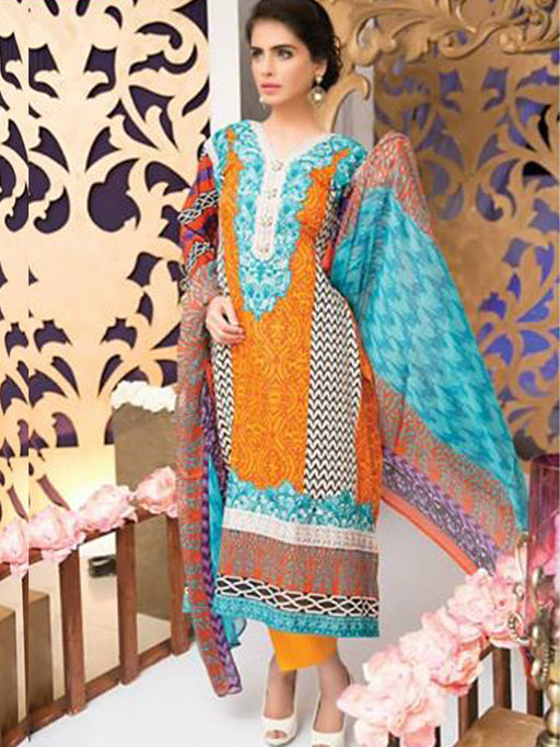 Falak Semi Stitched Original Pakistani Dresses & Pearl Suits With Clutch 07 wishcart.in