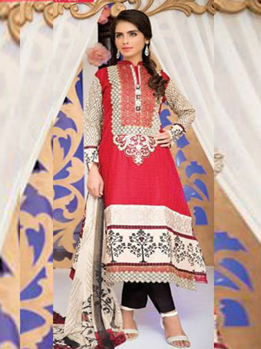 Falak Semi Stitched Original Pakistani Dresses & Pearl Suits With Clutch 04 wishcart.in