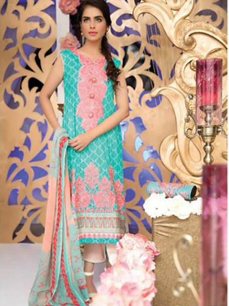 Falak Semi Stitched Original Pakistani Dresses & Pearl Suits With Clutch 01 wishcart.in