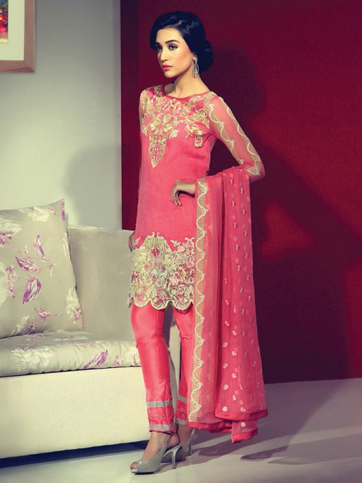 Party wear embroidered suit@wishcart.in