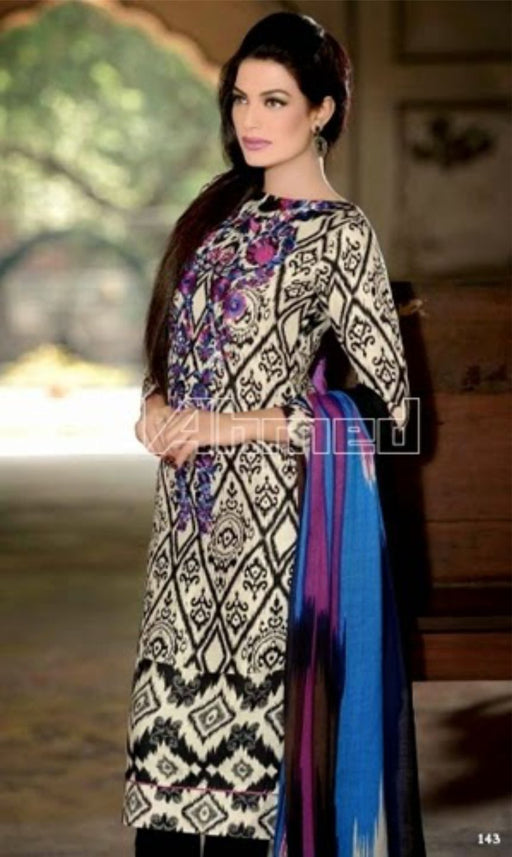 Gul Ahmed Original Pakistani Pashmina Dresses & Suits Collection - 01 wishcart.in