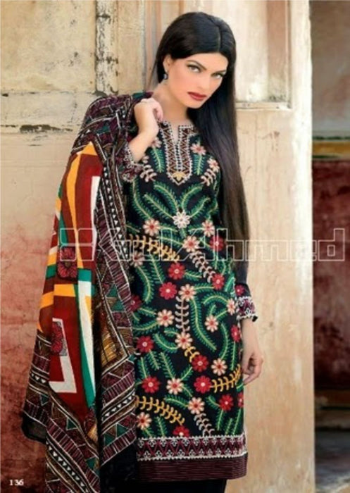 Gul Ahmed Pashmina Original Pakistani Dresses & Suits - 02 wishcart.in