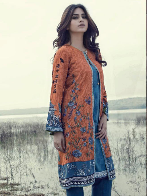Embroidered unstitched designer suit@wishcart.in