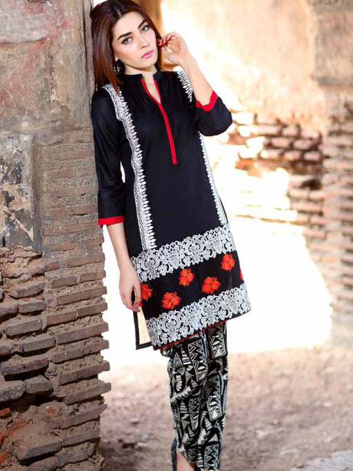 Embroidered lawn kurti by Charizma Belle@wishcart.in