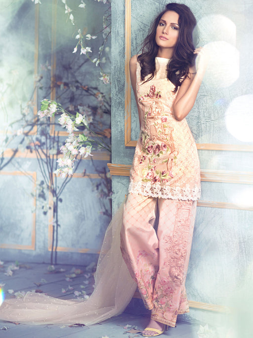 Chiffon embroidered suit by Rungrez Czarina Collection@wishcart.in