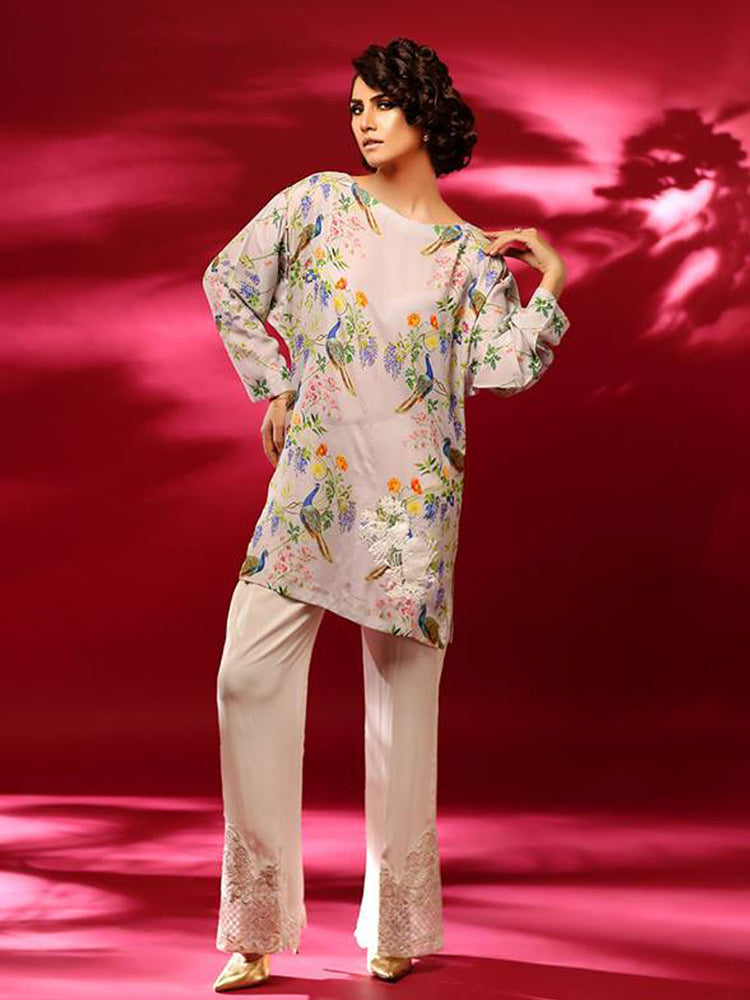 Sobia Nazir Satin Silk Kurti@wishcart.in