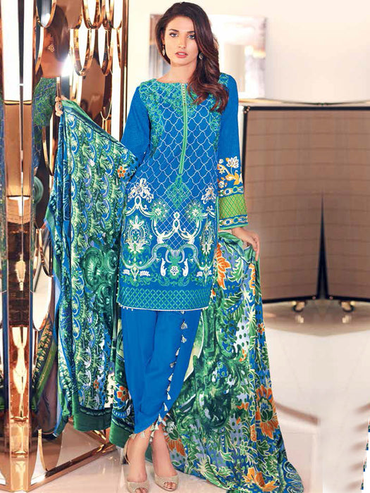 Gul Ahmed Silk Velvet Original Pakistani Dresses & Suits Collection - 07 wishcart.in