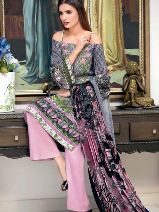 Gul Ahmed Silk Velvet Original Pakistani Dresses & Suits Collection - 02 wishcart.in