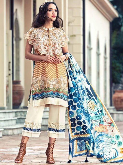 Faraz Manan Embroidered Lawn Original Pakistani Dresses & Suits Collection 03 wishcart.in