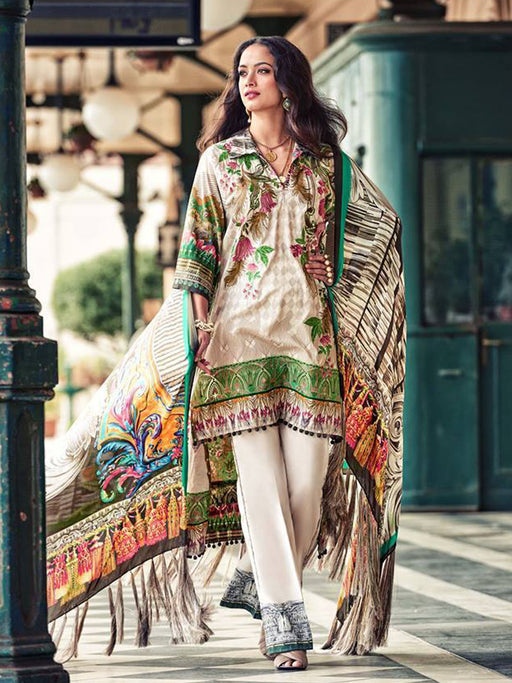 Faraz Manan Embroidered Lawn Original Pakistani Dresses & Suits Collection 05 wishcart.in