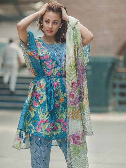 Luxurious printed casual/party suits@wishcart.in