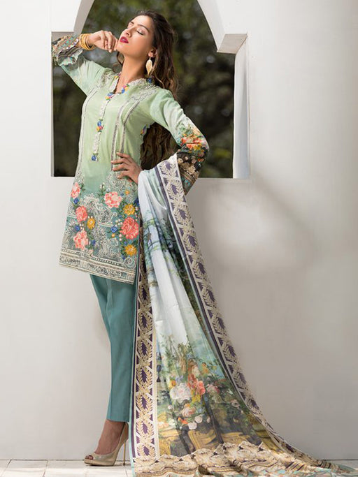 Firdous Exclusive Eid Collection- Tropical Tranquility 01 wishcart.in