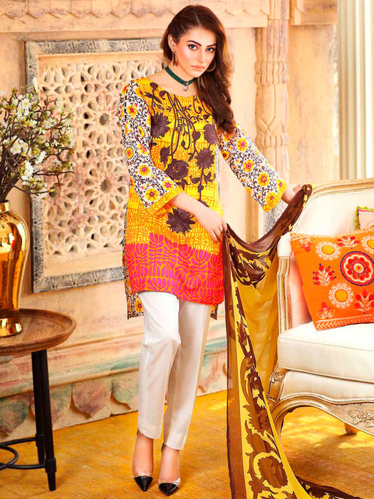 wishcart-store - Charizma Combination Embroidered Lawn Vol-5 Collection - wishcart-store -