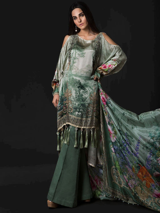 Maria B Silk Collection 2018 - Sea Green