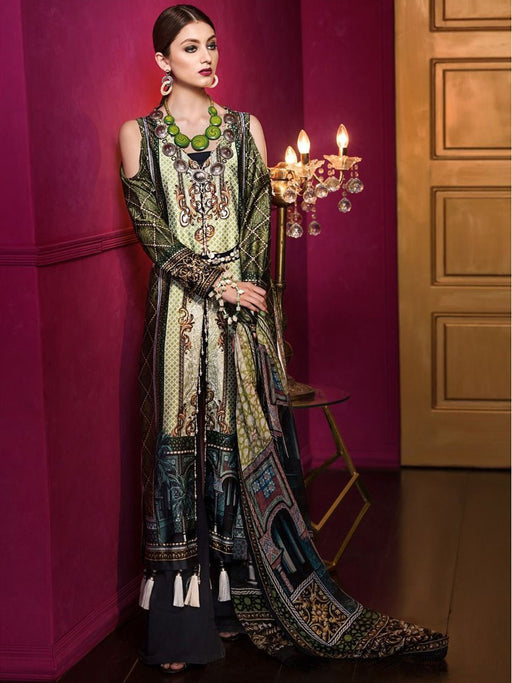 Gul Ahmed Lamis Digital Silk Original Pakistani Dresses & Suits Collection- 01 wishcart.in