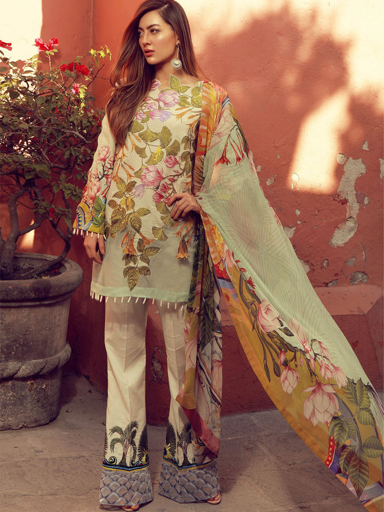 Summer/Spring  embroidered party/casual wear suit@wishcart.in