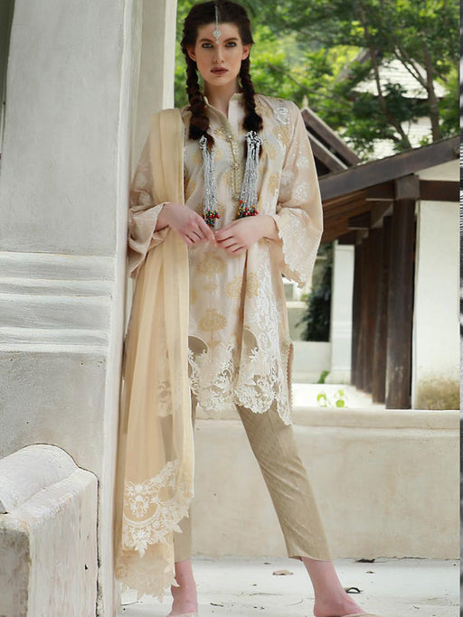 Chikankari Collection with embroidered shirts and  chiffon dupatta@wishcart.in