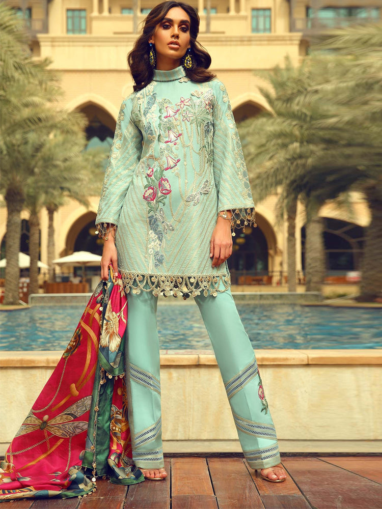 Faraz Manan Luxury Original Pakistani Dresses & Suits Eid Collection 2018 02 wishcart.in