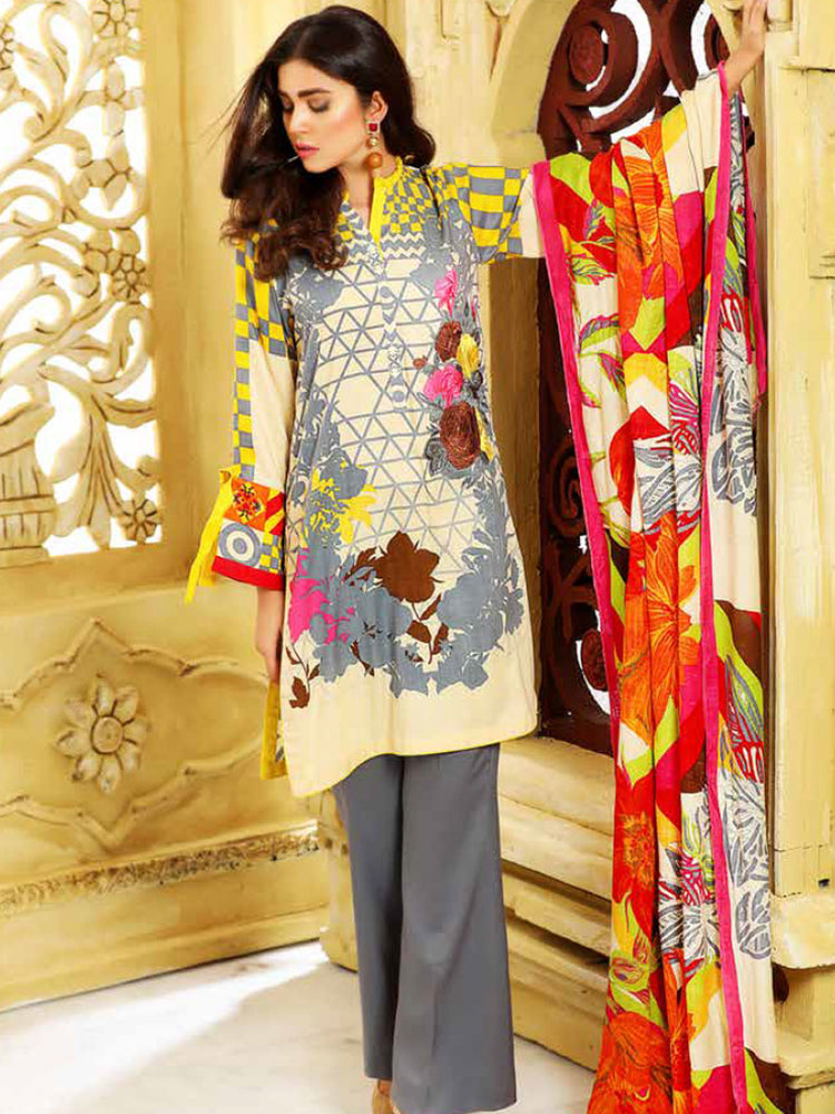 Charizma Plush Gold Original Pakistani Dresses & Suits - wishcart.in
