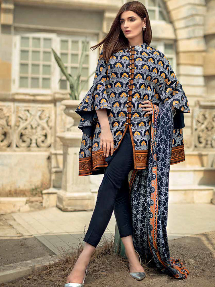 Gul Ahmed Winter Original Pakistani Dresses & Suits Collection 2018 - 021 wishcart.in