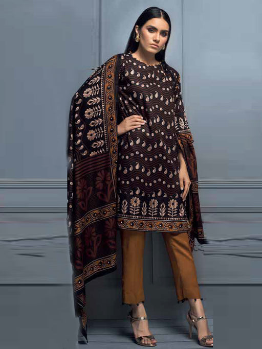 Gul Ahmed Winter Original Pakistani Dresses & Suits Collection 2018 - 016 wishcart.in