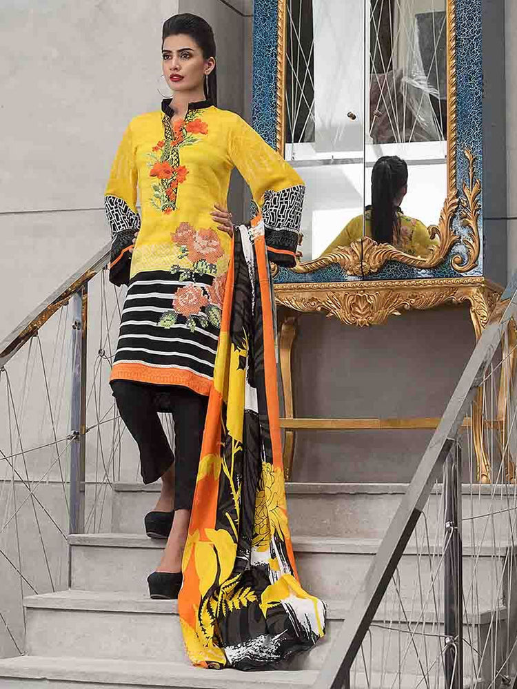 Gul Ahmed Winter Original Pakistani Dresses & Suits Collection 2018 - 006 wishcart.in