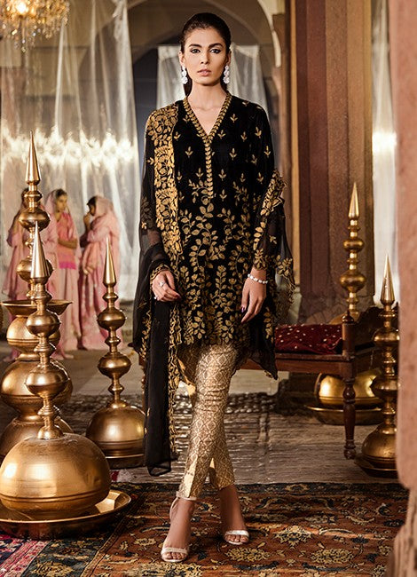 Iznik Festive Velvet Original Pakistani Dresses & Suits Collection MOONLESS NIGHT - 09 wishcart.in