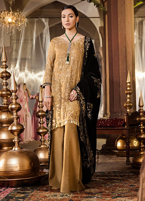 Iznik Festive Velvet Original Pakistani Dresses & Suits Collection RICH GOLD - 13 wishcart.in