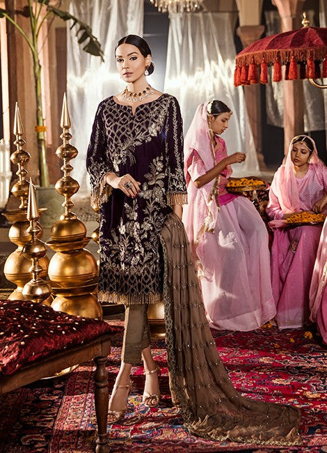 Iznik Festive Velvet Original Pakistani Dresses & Suits Collection MAJESTIC PURPLE - 07 wishcart.in