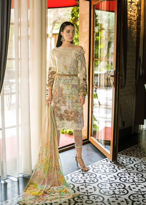 Gul Ahmed Original Pakistani Dresses & Suits Formal Collection 2019 - Laced Love 01 wishcart.in