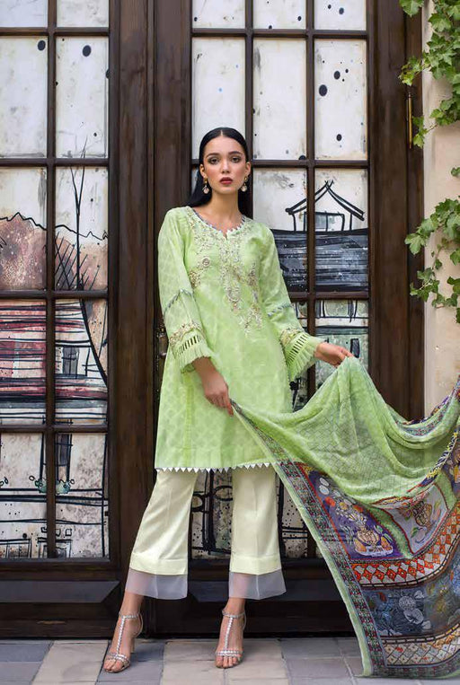 Gul Ahmed Original Pakistani Dresses & Suits Formal Collection 2019 PS05 - Spaded Jade 01 wishcart.in