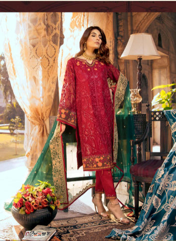 Embroidered shirt and trouser suit collection@wishcart.in