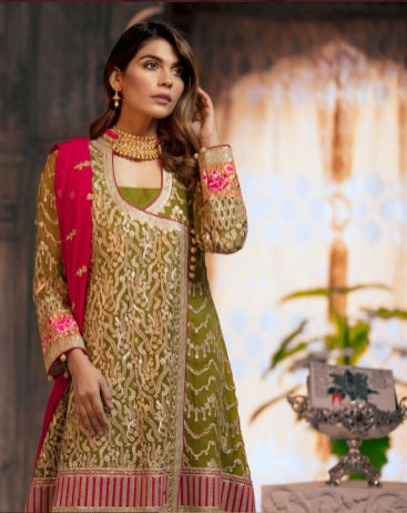 Unstitched embroidery suit@wishcart.in