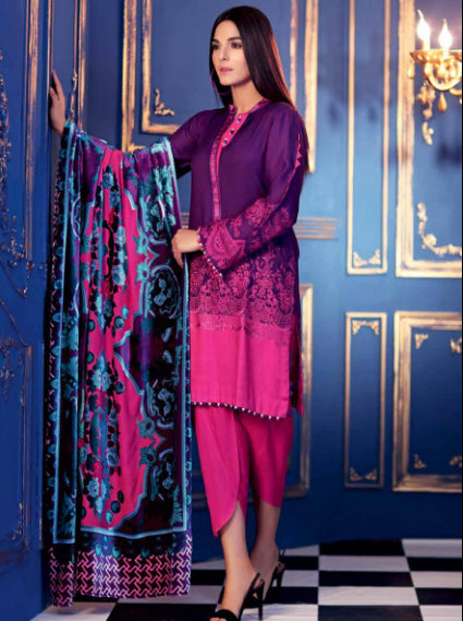 Gul Ahmed Winter Original Pakistani Dresses & Suits Collection 2018 - 002 wishcart.in