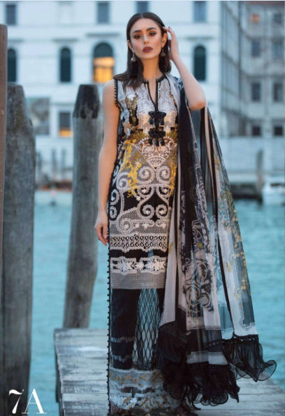 Sana Safinaz Luxury Lawn Collection 19 - 7A - Venezia