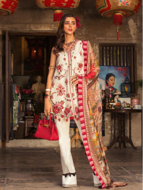 wishcart-store - Noor By Saadia Asad Luxury Lawn 2019 7B - wishcart-store -