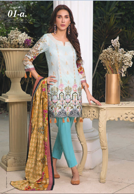 wishcart-store - Sahil Luxury Embroidered Lawn Festive Collection 2019 1A - wishcart-store -