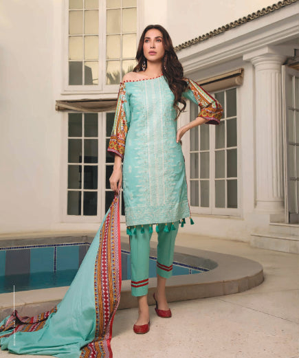 wishcart-store - Sahil Luxury Embroidered Lawn Festive Collection 2019 2A - wishcart-store -
