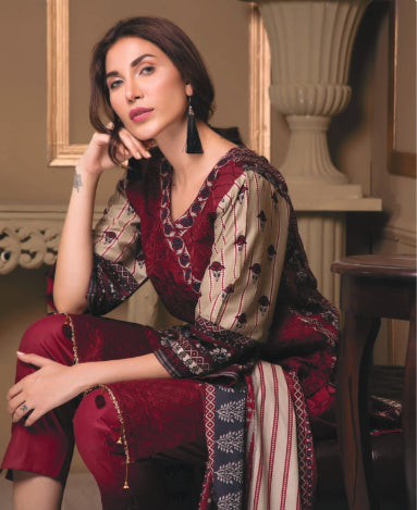 wishcart-store - Sahil Luxury Embroidered Lawn Festive Collection 2019 3A - wishcart-store -
