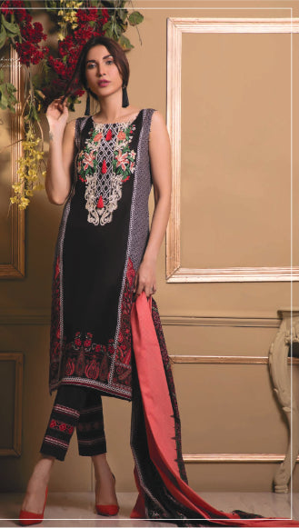 wishcart-store - Sahil Luxury Embroidered Lawn Festive Collection 2019 6A - wishcart-store -