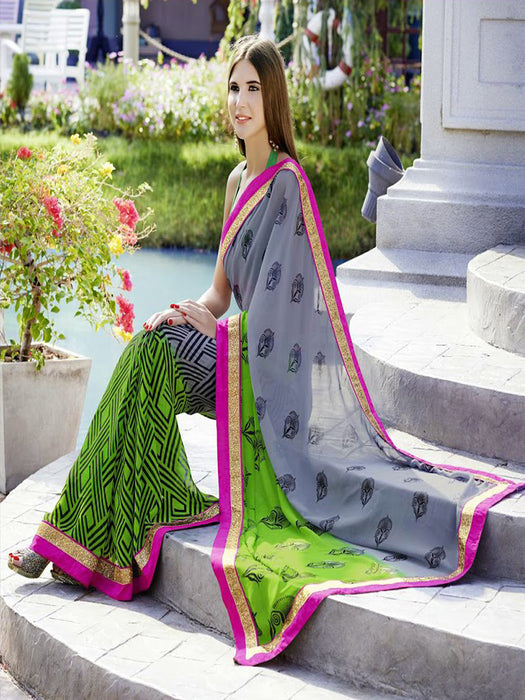 Designer georgette saree@wishcart.in