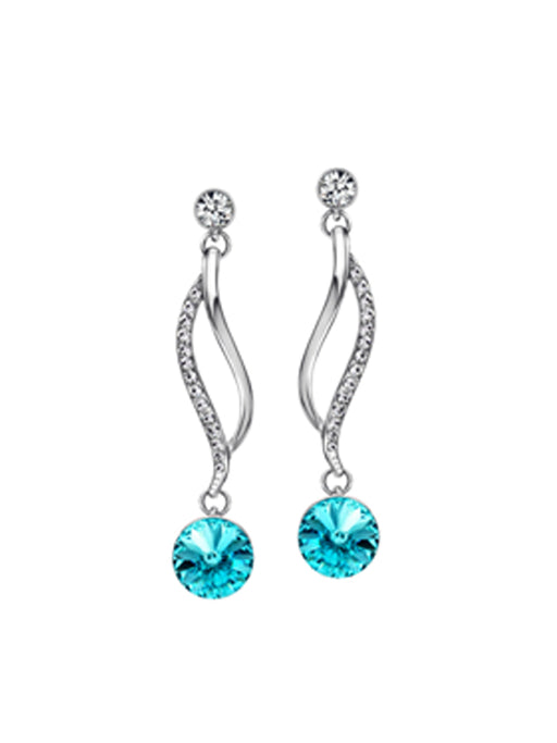 Party wear rhinestone earring@wishcart.in