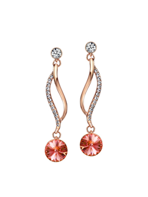 Fancy Rhinestone Crystal Drop Earrings@wishcart.in
