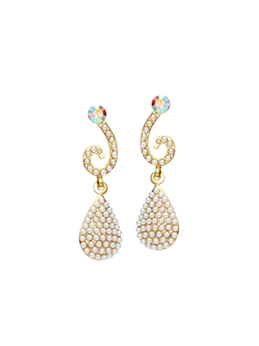 Party wear pearl drop earring@wishcart.in