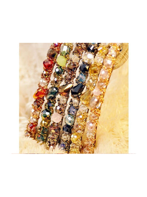 Multicolor crystal Hair Barrette@wishcart.in