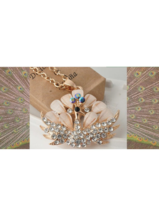 Peacock pendant necklace@wishcart.in